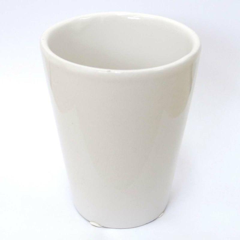 ハイドロカルチャー ミニ観葉植物用 陶器鉢(ホワイト)