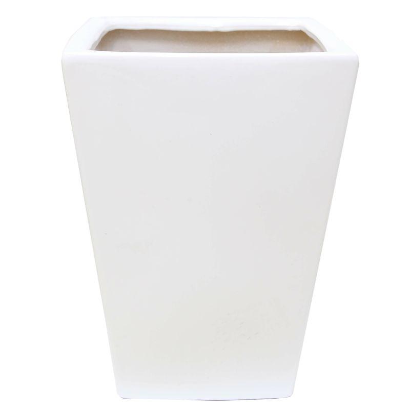 ホワイトスクエア陶器鉢(ストレート) 11号用(大)